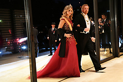 King Willem Alexander and Queen Maxima of Netherland at the Imperial Palace for the Court Banquets after the Ceremony of the Enthronement of Emperor Naruhito in Tokyo, Japan on October 22, 2019. Some 400 guests from Japan and international head of states were reported to attend the 'Kyoen-no-gi' banquet. Photo by Robin Utrecht/ABACAPRESS.COM