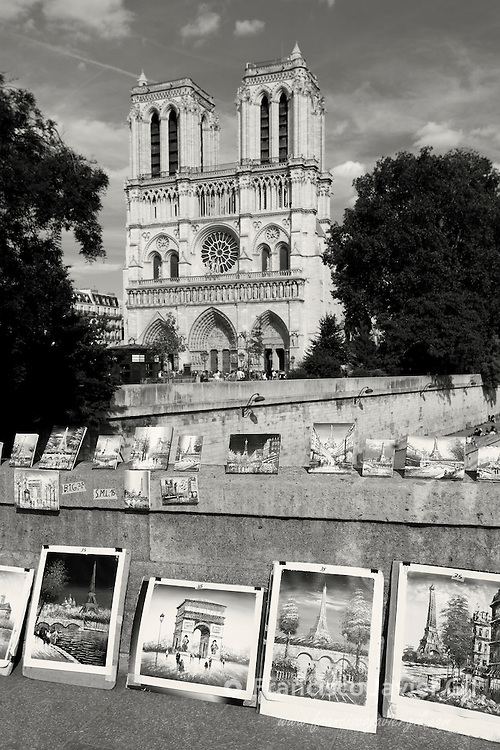 Notre Dame from the Petit pont, Paris, Ile-de-france, France