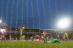 January 26, 2019 - Rotherham, England, United Kingdom - Kemar Roofe of Leeds United celebrates Mateusz Klich of Leeds United scoring his team's second goal during the Sky Bet Championship match between Rotherham United and Leeds United at the New York Stadium, Rotherham on Saturday 26th January 2019. (Credit Image: © Mark Fletcher/NurPhoto via ZUMA Press)