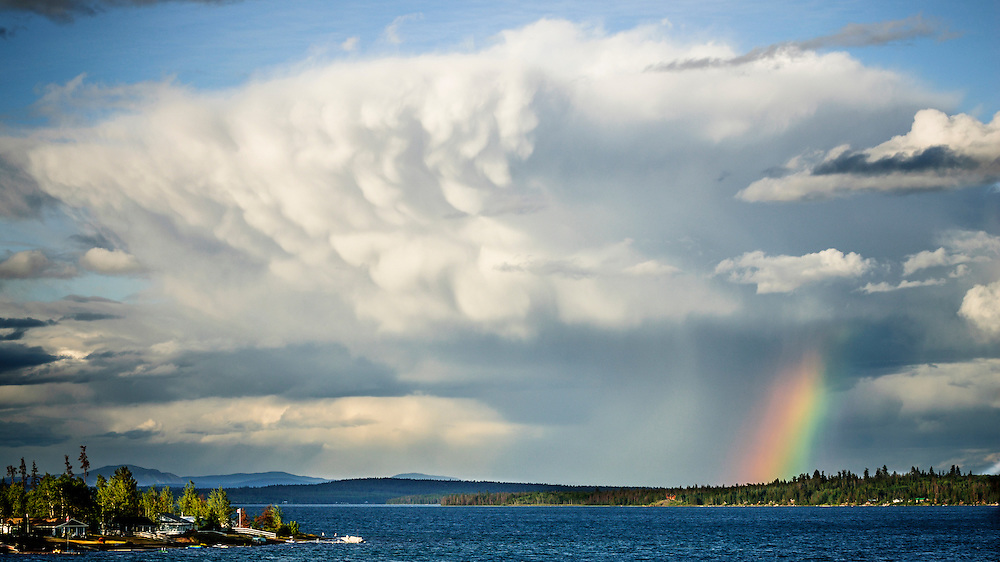 An afternoon thunderstorm rolls through British Columbia's Cariboo.
