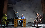 The Patriotic Traitor <br /> at Park Theatre, London, Great Britain <br /> press photocall <br /> 18th February 2016 <br /> Tom Mannion<br /> Niall Ashdown as Leon Blum<br /> Tom Conti as Philippe Petain<br /> James Chalmers as General Le Gallet <br /> <br /> Photograph by Elliott Franks <br /> Image licensed to Elliott Franks Photography Services