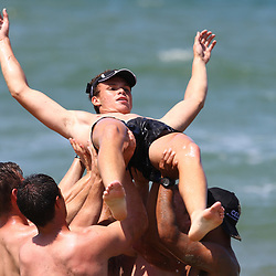 DURBAN, SOUTH AFRICA, December 10. 2015 - Curwin Bosch during The Cell C Sharks Pre Season Beach South Beach training for the 2016 Super Rugby Season . (Photo by Steve Haag)<br /> images for social media must have consent from Steve Haag