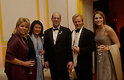 Ari Fleischer and his wife  Becki, Bloomberg after-party,  Russian mansion, Washington Correspondents dinner, Washington Hilton, 26 April 2003. © Copyright Photograph by Dafydd Jones 66 Stockwell Park Rd. London SW9 0DA Tel 020 7733 0108 www.dafjones.com