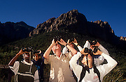 Led by Roger Tory Peterson, the group scans for hawks and eagles, Chiricahua Mountains, Arizona..Media Usage:.Subject photograph(s) are copyrighted Edward McCain. All rights are reserved except those specifically granted by McCain Photography in writing...McCain Photography.211 S 4th Avenue.Tucson, AZ 85701-2103.(520) 623-1998.mobile: (520) 990-0999.fax: (520) 623-1190.http://www.mccainphoto.com.edward@mccainphoto.com.
