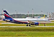 VQ-BIT Aeroflot Airbus A320 Photographed at Malpensa airport, Milan, Italy