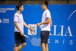 Sven Lah and Aljaz Jakob Kaplja of Slovenia during Doubles 1st Round of ATP Challenger Tilia Slovenia Open 2016, on August 8, 2016 in Portoroz/Portorose, Slovenia. Photo by Vid Ponikvar / Sportida