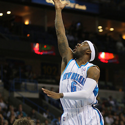 Jan 02, 2010; New Orleans, LA, USA; New Orleans Hornets guard Bobby Brown (6) shoots over Houston Rockets center David Andersen (13) during the fourth quarter at the New Orleans Arena. Mandatory Credit: Derick E. Hingle-US PRESSWIRE
