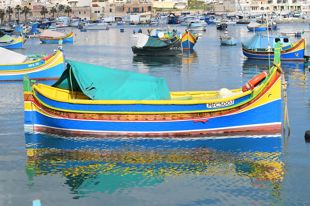 Fishing boat in Marsaxlokk