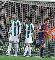 FC Barcelona's VS Cordoba. Copa del Rey soccer match at the Camp Nou stadium in Barcelona, Spain, Thursday, Jan. 10, 2013.