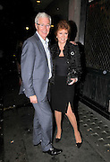 05.JULY.2011. LONDON<br /> <br /> PAUL O GRADY AND CILLA BLACK LEAVING THE IVY RESTAURANT IN CENTRAL LONDON.<br /> <br /> BYLINE: EDBIMAGEARCHIVE.COM<br /> <br /> *THIS IMAGE IS STRICTLY FOR UK NEWSPAPERS AND MAGAZINES ONLY*<br /> *FOR WORLD WIDE SALES AND WEB USE PLEASE CONTACT EDBIMAGEARCHIVE - 0208 954 5968*