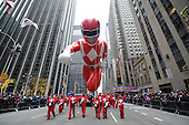 11/27/2014 Macy's Thanksgiving Day Parade with Mighty Morphin Power Ranger