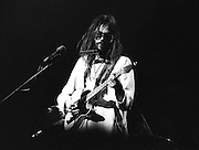 © PIC BY HOWARD BARLOW.. Neil Young. Manchester Palace 1973 supported by The Eagles