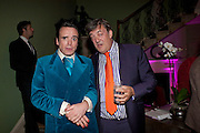 SEBASTIAN HORSLEY; STEPHEN FRY, First night party for Dandy In The Underworld which opened at the  Soho Theatre, 21 Dean Street. House Of St Barnabas, 1 Greek Street, 15 June 2010. -DO NOT ARCHIVE-© Copyright Photograph by Dafydd Jones. 248 Clapham Rd. London SW9 0PZ. Tel 0207 820 0771. www.dafjones.com.