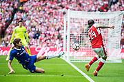 Arsenal defender Hector Bellerin (24) during the The FA Cup Final match between Arsenal and Chelsea at Wembley Stadium, London, England on 27 May 2017. Photo by Sebastian Frej.