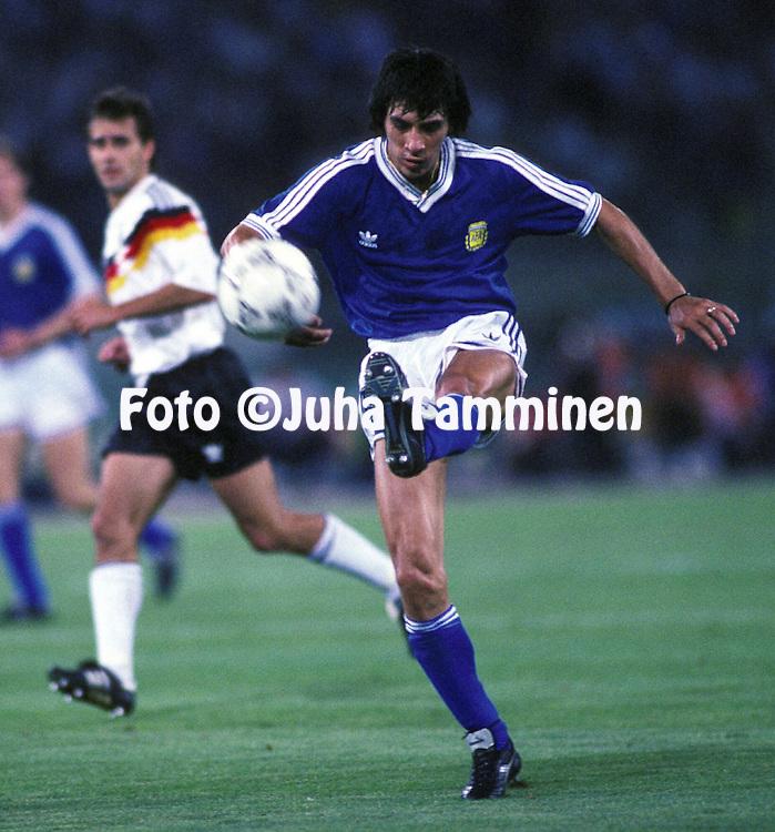 08.07.1990, Stadio Olimpico, Roma, Italy..FIFA World Cup Final, Germany v Argentina. .Jos? Horacio Basualdo - Argentina.©JUHA TAMMINEN