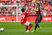Barry Douglas of Leeds United (3) in action during the EFL Sky Bet Championship match between Bristol City and Leeds United at Ashton Gate, Bristol, England on 4 August 2019.