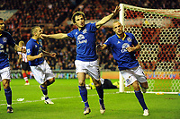 Football - Premier League - Sunderland vs. Everton<br /> Leighton Baines (Everton) celebrates after scoring from the penalty spot at the Stadium of Light.