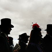 Spectators move between stands during The Royal Meeting Race meeting, Royal Ascot. England, UK. June 16-20th, 2009. Photo Tim Clayton