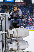 KELOWNA, CANADA - MARCH 13: Orchard Park Zamboni Rider at the Kelowna Rockets game on March 13, 2019 at Prospera Place in Kelowna, British Columbia, Canada. (Photo By Cindy Rogers/Nyasa Photography, *** Local Caption ***