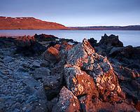 Sunrise in Ingólfsfjörður, Strandir, Northwest Iceland.