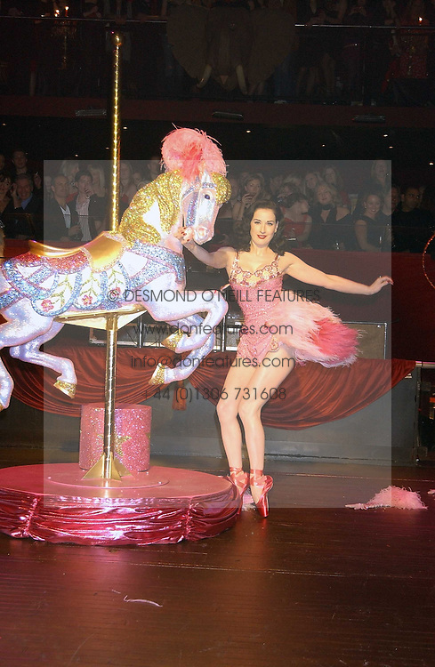 DITA VON TEESE at a party to celebrate the first issue of British Harper's Bazaar held at Cirque, 10-14 Cranbourne Street, London WC2 on 16th February 2006.<br /><br />NON EXCLUSIVE - WORLD RIGHTS