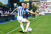 Huddersfield Town Florent Hadergjonaj crosses the ball during the EFL Sky Bet Championship match between Huddersfield Town and Reading at the John Smiths Stadium, Huddersfield, England on 24 August 2019.