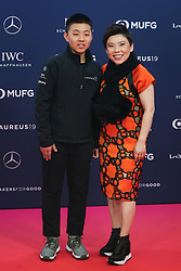 MONACO, Feb. 19, 2019  Laureus Academy Member, Chinese table tennis Olympic champion Deng Yaping and her son Lin Hanming pose on the red carpet at the 2019 Laureus World Sports Awards ceremony in Monaco, Feb. 18, 2019. The 2019 Laureus World Sports Awards were unveiled in Monaco on Monday. (Credit Image: © Zheng Huansong/Xinhua via ZUMA Wire)