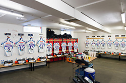 A general view in the away changing rooms at Allianz Park - Mandatory byline: Patrick Khachfe/JMP - 07966 386802 - 04/05/2019 - RUGBY UNION - Allianz Park - London, England - Saracens v Exeter Chiefs - Gallagher Premiership Rugby