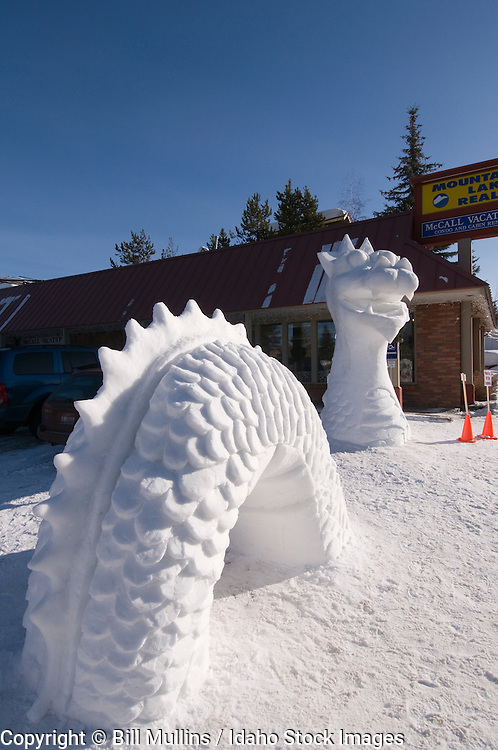 Ice sculpture at Winter Carnival in McCall, ID, 2009