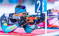 16.01.2020, Chiemgau Arena, Ruhpolding, GER, IBU Weltcup Biathlon, Sprint, Herren, im Bild Simon Desthieux (FRA) // Simon Desthieux of France during the men's sprint competition of BMW IBU Biathlon World Cup at the Chiemgau Arena in Ruhpolding, Germany on 2020/01/16. EXPA Pictures © 2020, PhotoCredit: EXPA/ Stefan Adelsberger