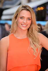 Image ©Licensed to i-Images Picture Agency. 12/08/2014. London, United Kingdom. <br /> Francesa Newman Young attends the What If - UK film premiere. Leicester Square. Picture by Chris Joseph / i-Images
