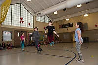Elm Street School annual Jump Rope for Heart event.  Karen Bobotas for the Laconia Daily Sun