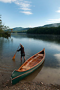 Canoeing on Fern Lake, Leicester, Vermont.