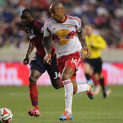 Thierry Henry, New York Red Bulls, in action during the New York Red Bulls Vs Chicago Fire, Major League Soccer regular season match at Red Bull Arena, Harrison, New Jersey. USA. 10th May 2014. Photo Tim Clayton