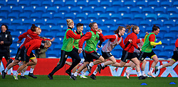 CARDIFF, WALES - Thursday, November 23, 2017: Wales' Lauren Dykes during a training session ahead of the FIFA Women's World Cup 2019 Qualifying Round Group 1 match between Wales and Kazakhstan at the Cardiff City Stadium. (Pic by David Rawcliffe/Propaganda)