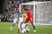 England Forward Daniel Sturridge during the Euro 2016 Group B match between Slovakia and England at Stade Geoffroy Guichard, Saint-Etienne, France on 20 June 2016. Photo by Phil Duncan.