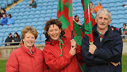 Aileen Gough, Marie and Eugene Loftus from Ballina were amoung the many fans welcoming home the Mayo team at McHale Park on sunday.<br /> Pic Conor McKeown