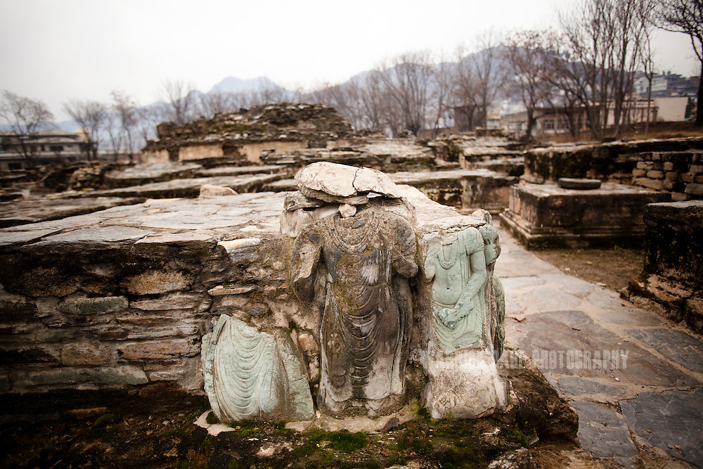 Carved figures are seen at the Butkara-I site in the Swat Valley, on February 11, 2011, in Mingora, Pakistan. The site was excavated from 1956-62 with the help of the Italian Archeological Mission and dates back to the 3C, B.C. The Kingdom of Gandhara lasted from early 1st millennium BC to the 11th century AD, and was located in northern Pakistan and eastern Afghanistan. (Photo by Warrick Page)