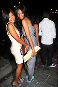 l to r Angela Simmons and Vanessa Simmons at Vanessa Simmons' Birthday Celebration held at Su Casa on August 7, 2009 in New York City