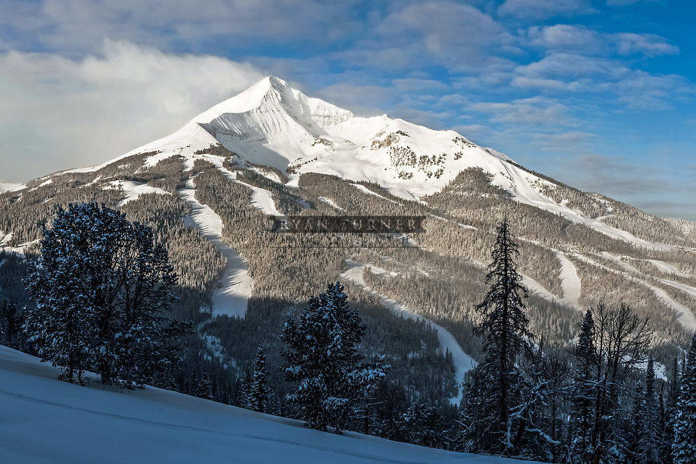 One of the most beautiful ski mountains called Lone Peak.