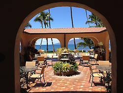 The View from Puamana Clubhouse, Lahaina, Maui, Hawaii, US