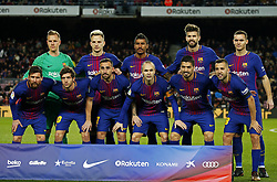 December 17, 2017 - Barcelona, Catalonia, Spain - FC Barcelona team during the La Liga match between FC Barcelona v Real Club Deportivo de La Coruna, in Barcelona, on December 17, 2017. (Credit Image: © Joan Valls/NurPhoto via ZUMA Press)
