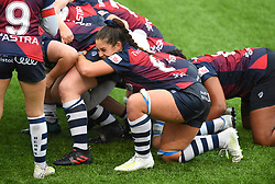 Daisie Mayes of Bristol Bears Women in action in the scrum - Mandatory by-line: Paul Knight/JMP - 26/10/2019 - RUGBY - Shaftesbury Park - Bristol, England - Bristol Bears Women v Richmond Women - Tyrrells Premier 15s