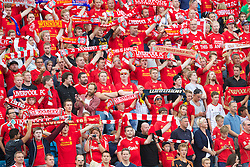 OSLO, NORWAY - Wednesday, August 7, 2013: Liverpool supporters before a preseason friendly match against Valerenga at the Ullevaal Stadion. (Pic by David Rawcliffe/Propaganda)