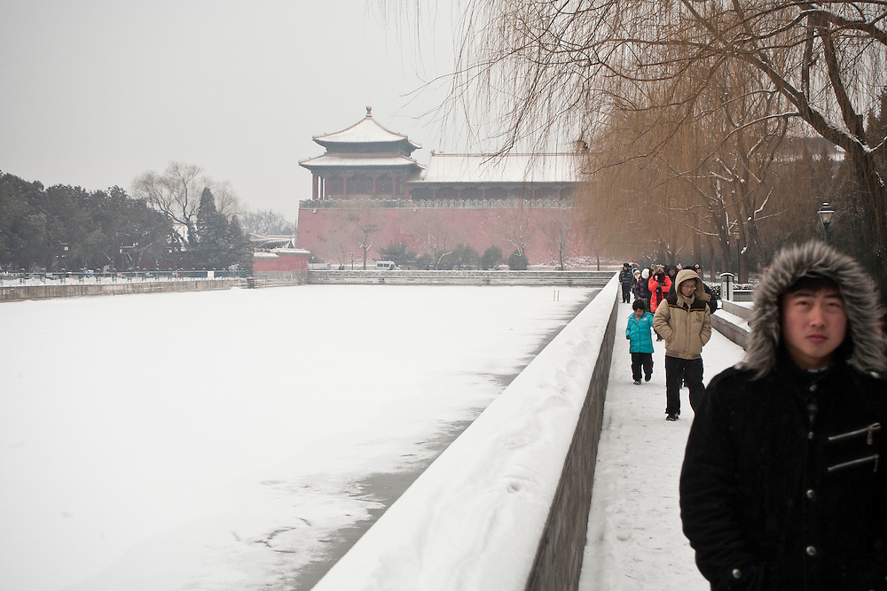 The moat of the Forbidden city  after a snowfall that local authorities say they have artifically provoked to fight the exceptional drought in northern China. February 10 2011