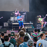 Pigeons Playing Ping Pong perform during Merryland Music Festival at Merriweather Post Pavilion in Columbia, MD on July 10, 2016 (Photo by Richie Downs).