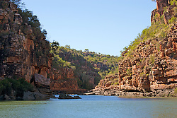 Dramatic sandstone cliffs line the Sale River on the Kimberley coast.
