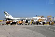 Israel, Ben-Gurion international Airport Evergreen International Passenger Jet on the ground