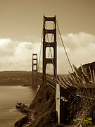 The Golden Gate Bridge in San Francisco. Photo by John Lill
