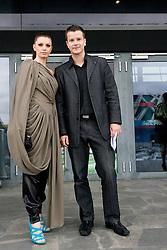 Nina Urbancic Romih in Bostjan Romih na premieri filma Seks v mestu 2, 2. junija 2010, v Koloseju, BTC, Ljubljana, Slovenija. (Photo by Vid Ponikvar / Sportida)